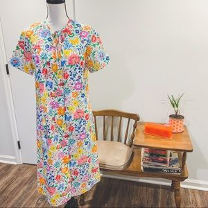 Vtg 70's Komar House Dress